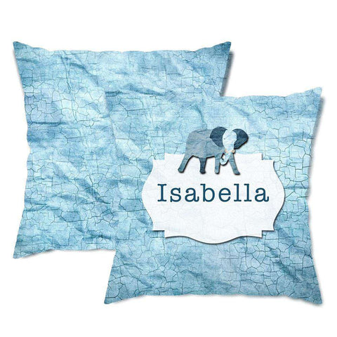 Personalized Elephant Skin Throw Pillow