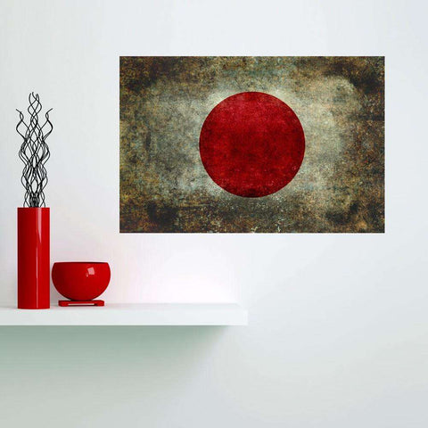 National Flag of Japan Wall Sticker Decal by Bruce Stanfield
