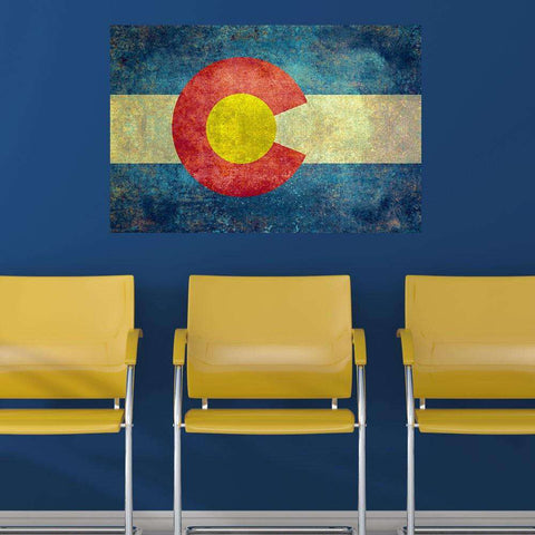 Colorado State Flag Wall Sticker Decal by Bruce Stanfield