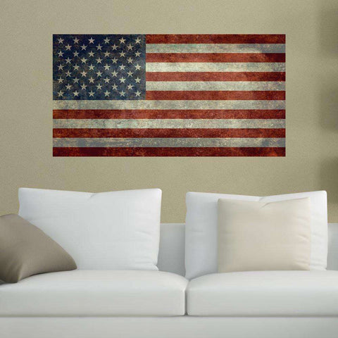 United States of America Flag Wall Sticker Decal by Bruce Stanfield