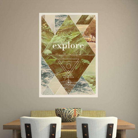 Art Deco Retro Wall Sticker Decal - Explore I by Florent Bodart