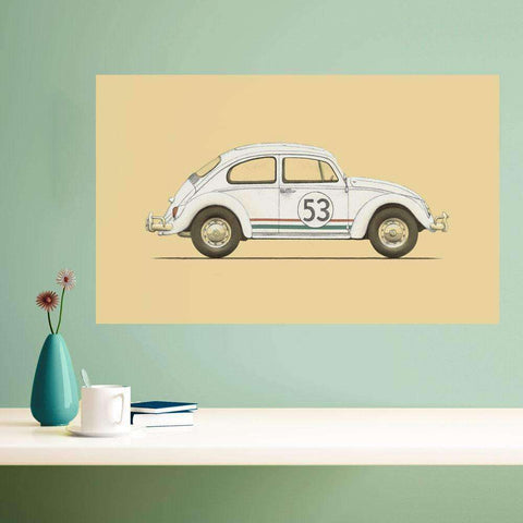 Herbie the Love Bug Wall Sticker Decal by Florent Bodart