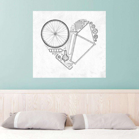 Love Bike Wall Sticker Decal by Florent Bodart