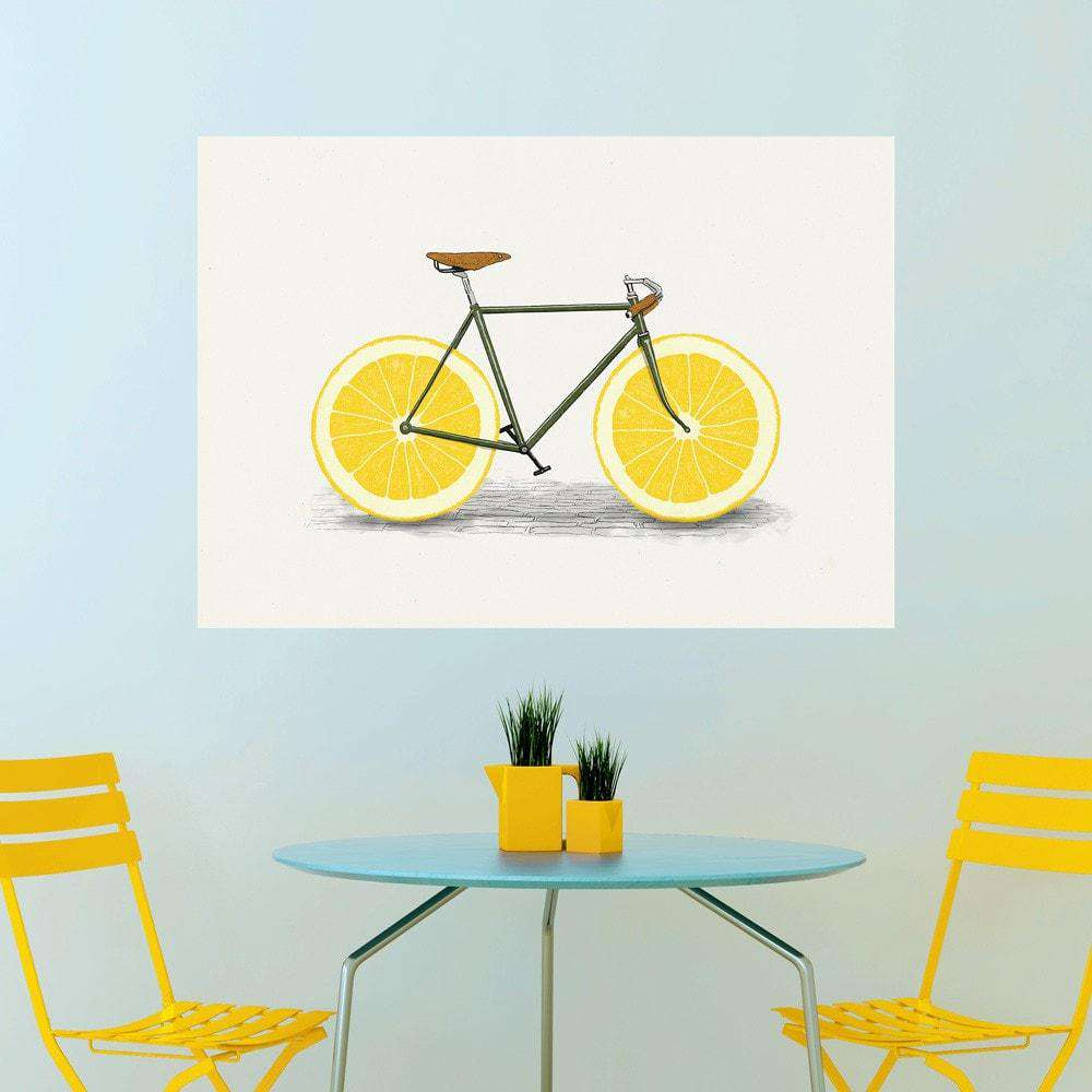 sc 1 st  My Wonderful Walls & Lemon Bicycle Wall Sticker Decal u2013 Zest by Florent Bodart