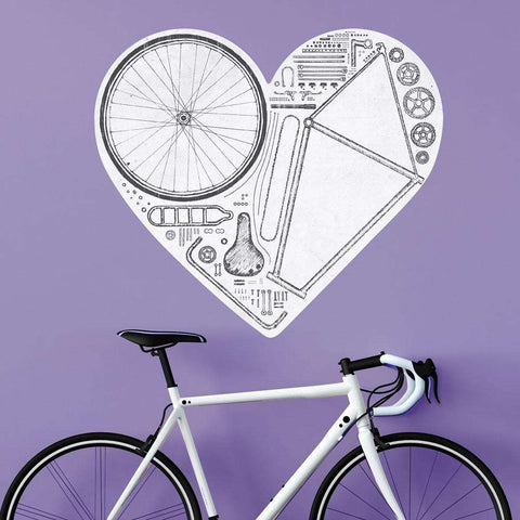Love Bike Wall Sticker Decal Cut Out by Florent Bodart