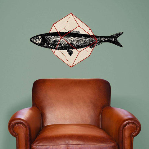 Geometry Fish Wall Sticker Decal Cut Out by Florent Bodart
