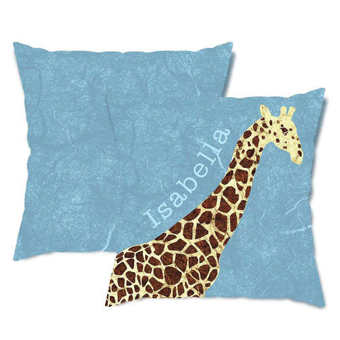 Personalized Giraffe Throw Pillow