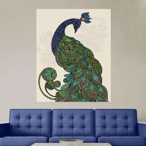Peacock Art Wall Sticker Decal – Peacock - Eva by Valentina Harper