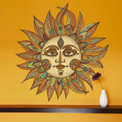 Celestial Sun Art Wall Sticker Decal – Helios by Valentina Harper