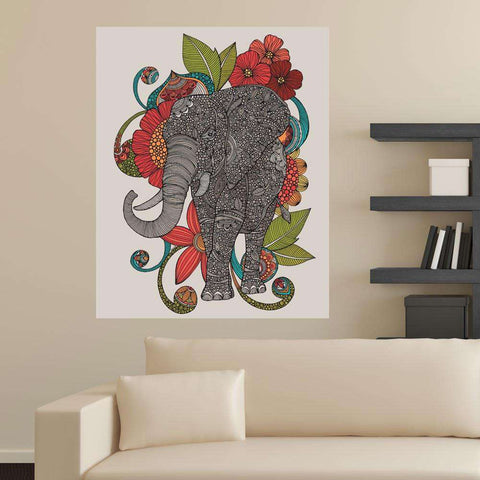Elephant Animal Art Wall Sticker Decal – Ruby by Valentina Harper