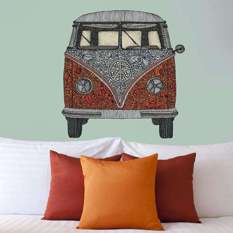 Volkswagen Bus Art Wall Sticker Decal – The Van by Valentina Harper