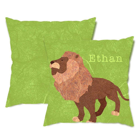 Personalized Lion Throw Pillow