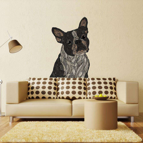 Boxer Dog Animal Art Wall Sticker Decal - Barkysimeto by Valentina Harper