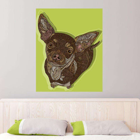 Chihuahua Dog Animal Art Wall Sticker Decal - Honcho by Valentina Harper