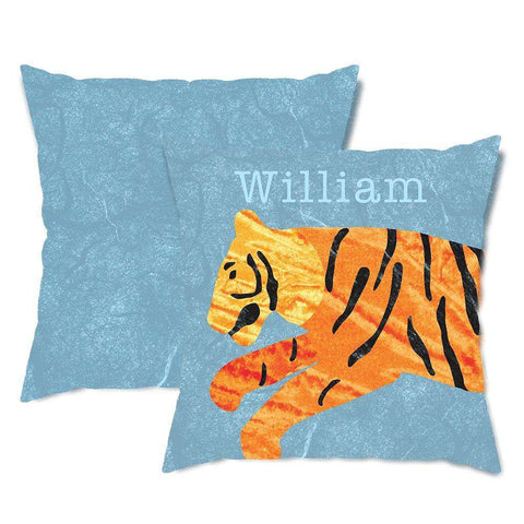 Personalized Tiger Throw Pillow