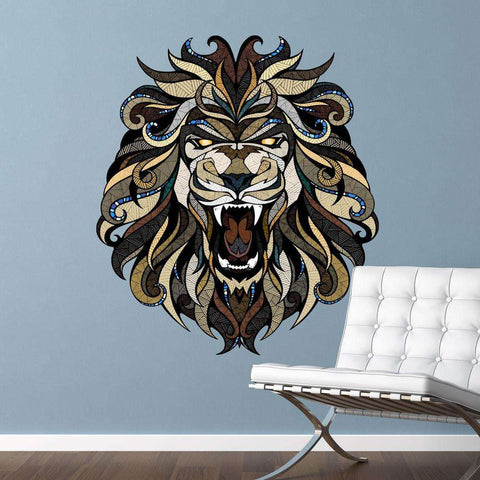 Angry Lion Wall Sticker Decal by Andreas Preis