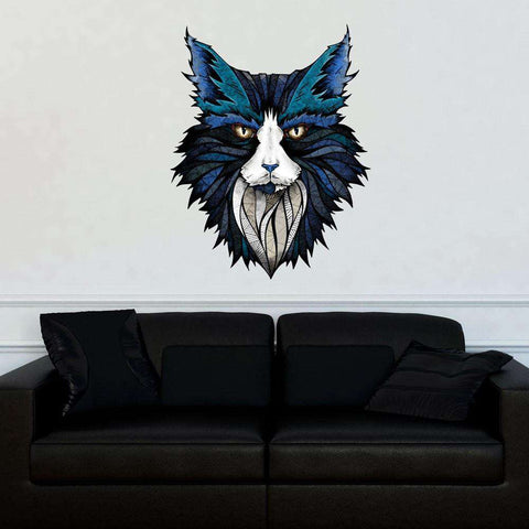 Blue Cat Wall Sticker Decal by Andreas Preis
