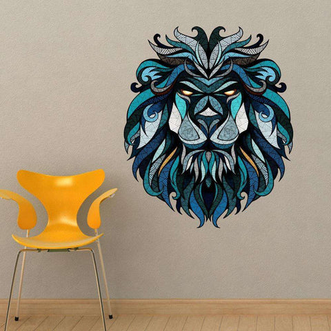 Blue Lion Wall Sticker Decal By Andreas Preis