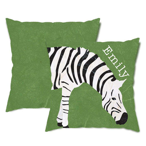 Personalized Zebra Throw Pillow