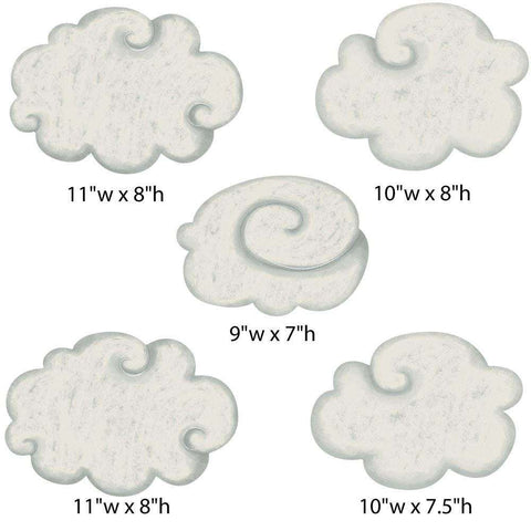 Cloud Wall Stickers from Classic Nursery Collection (color: CHESTNUT)