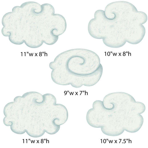 Cloud Wall Stickers from Classic Nursery Collection (color: SPRING)