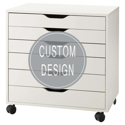 Customized Decals for IKEA Alex Drawer Unit (FURNITURE NOT INCLUDED)