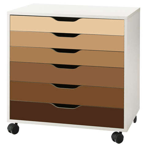 Brown Ombre Pattern Decal Set for IKEA Alex Drawer Unit