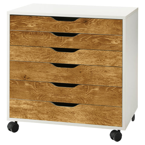 Golden Oak Wood Grain Decal Set for IKEA Alex Drawer Unit