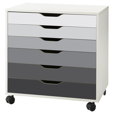 Grey Ombre Pattern Decal Set for IKEA Alex Drawer Unit