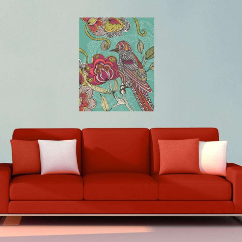 Floral Bird Art Wall Sticker Decal by Valentina Harper