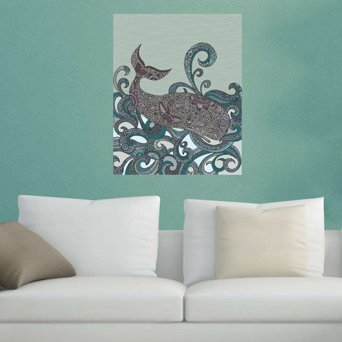 Whale Ocean Animal Art Wall Sticker Decal by Valentina Harper