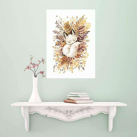 Anime Fox Wall Sticker Decal – Slumber by Indre Bankauskaite