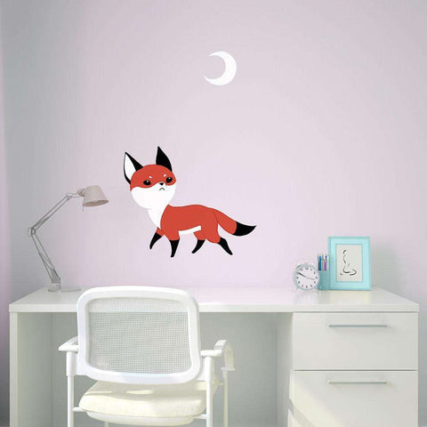 Fox Anime Art Wall Decal - Moon Fox by Indre Bankauskaite