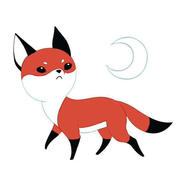 Fox Anime Art Wall Decal Moon Fox By Indre Bankauskaite