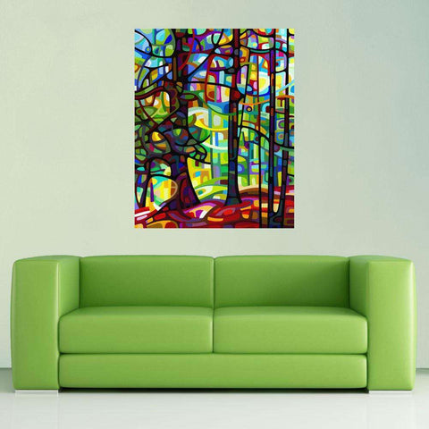Abstract Forest Wall Sticker Decal - After the Rain by Mandy Budan