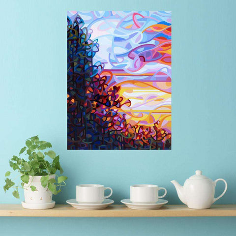 Abstract Trees at Sunset Wall Sticker Decal – Crescendo by Mandy Budan