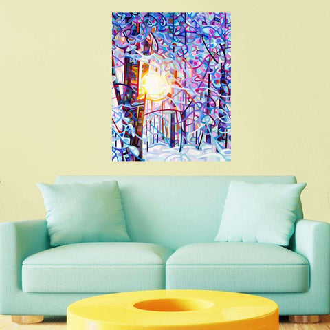 Abstract Forest Wall Sticker Decal – Early Riser by Mandy Budan