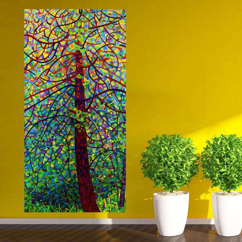 Abstract Forest Wall Sticker Decal – Kaleidoscope by Mandy Budan