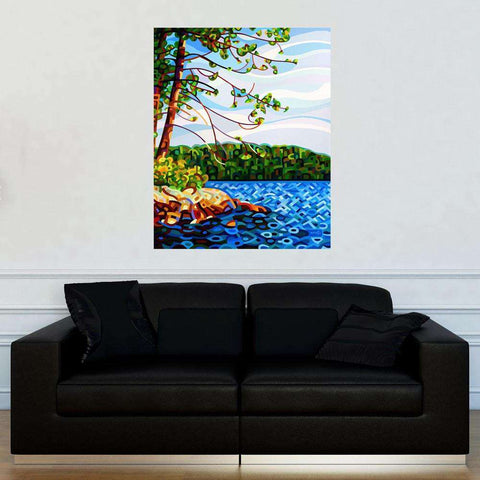Abstract Lake Wall Decal – View from Mazengah by Mandy Budan