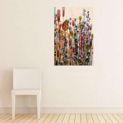 Abstract Bird and Flower Art Wall Sticker Decal – I'm Here by Sylvie Demers