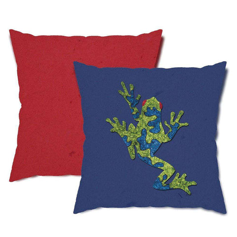 Blue and Red Tree Frog Throw Pillow