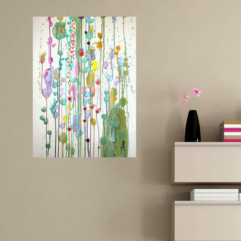 Abstract Bird and Garden Art Wall Sticker Decal – Recognize You by Sylvie Demers
