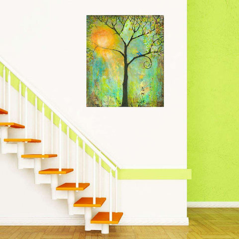 Tree and Bird Art Wall Decal - Hello Sunshine by Blenda Tyvoll