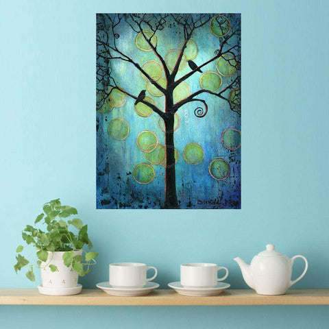 Bird Tree Art Wall Sticker Decal - Twilight Tree by Blenda Tyvoll