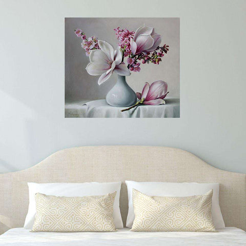 Magnolia Floral Art Wall Decal by Pieter Wagemans