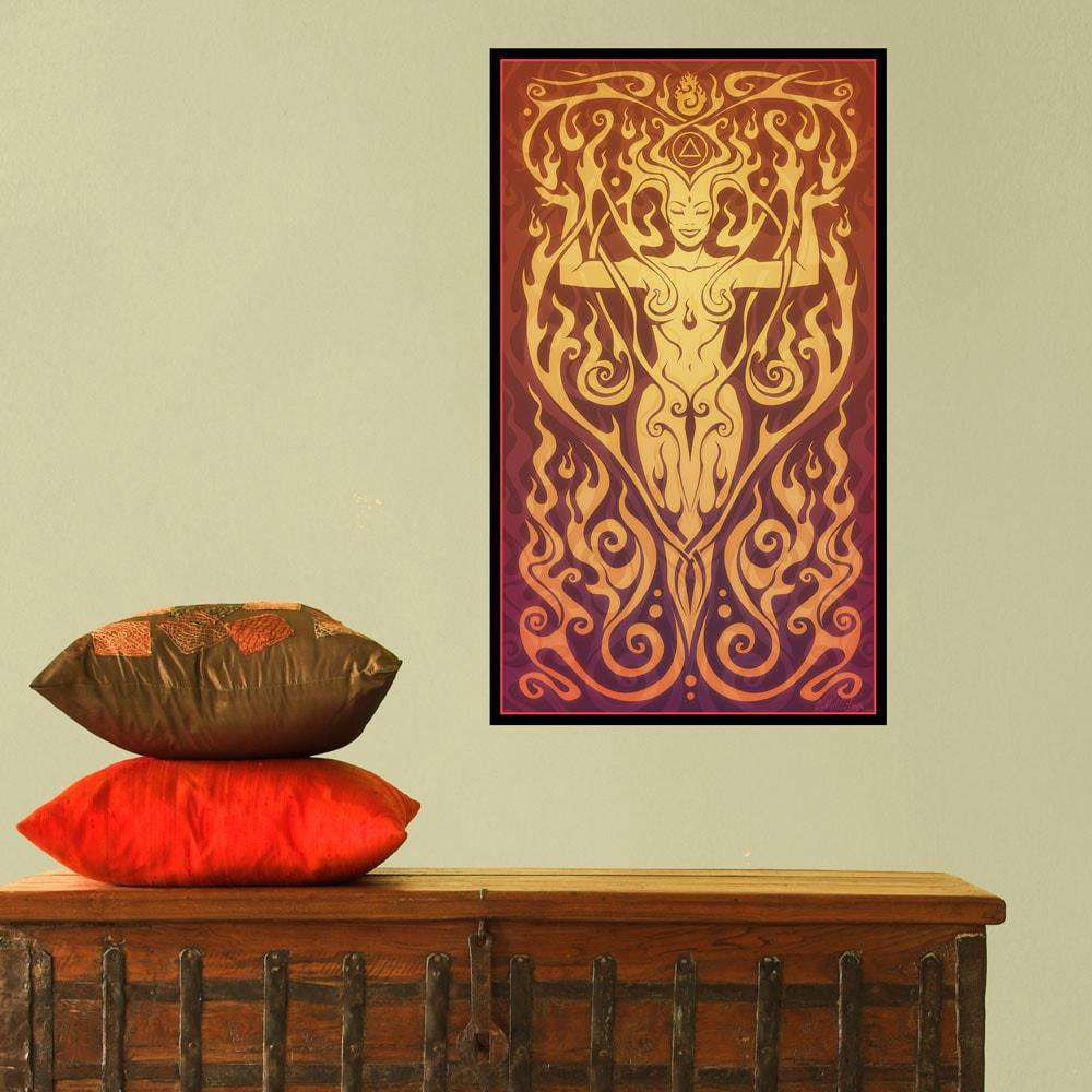 Spiritual and ethereal stencils stickers and coordinating home and ho fire goddess graphic art fire spirit by cristina mcallister amipublicfo Images