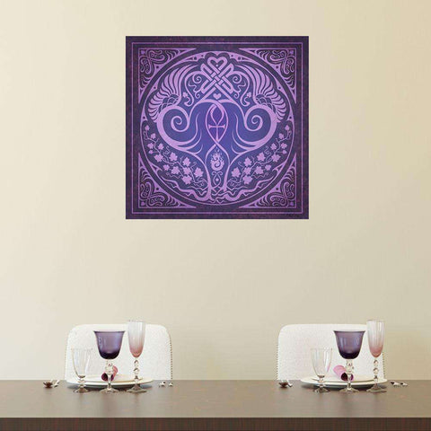 Soul Mates Wall Decal in Purple by Cristina McAllister