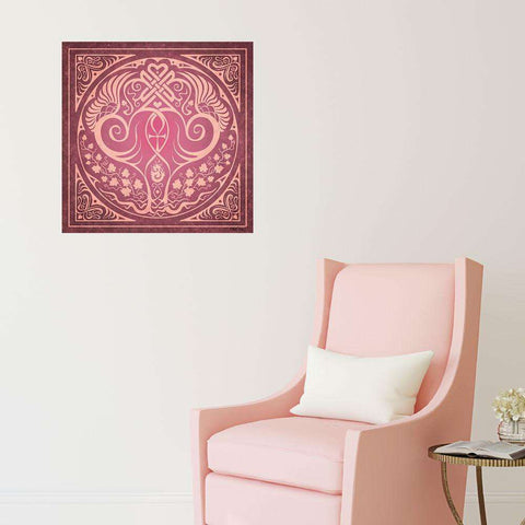Soul Mates Wall Decal in Pink by Cristina McAllister