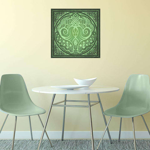 Soul Mates Wall Decal in Green by Cristina McAllister
