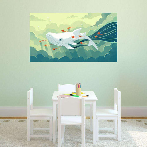 Whale Fantasy Art Decal - Nightbringer by Indre Bankauskaite